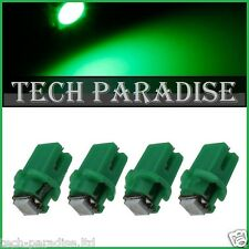 100x Ampoule B8.3D BX8.3D BAX10S ( T5 sur culot ) LED SMD Vert Green Neo Wedge