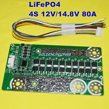12V 4S PCM BMS 80A for automobile motocycle starting DIY LiFePO4 battery pack