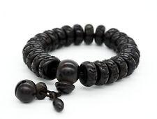 Buddhist Mantras Bracelet Lightning Wood Beads Carved Om Mani Padme Hum Mantras