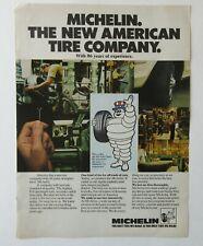 Vintage 70s Bib Michelin Man Tire Company 1975 Magazine Color Print Ad Radial