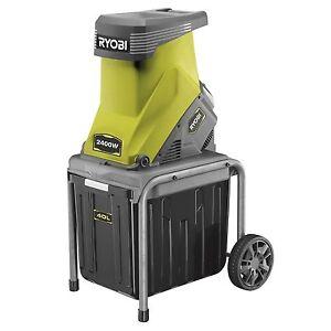 Ryobi™ 2400W Electric Garden Shredder Mulcher Wood Chipper Machine -2yr Warranty