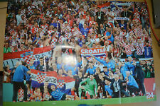 CROATIA SOCCER NATIONAL TEAM GIANT POSTER Squad World Cup FINAL Celebrate jersey