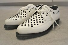 daf41092312 Dr. Martens UNISEX Willis Shoes UK 11 White Rousden Creepers Lace Up Leather