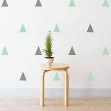 NEW Little Sticker Boy Midi Pastel Triangles Wall Decal, Grey/Mint