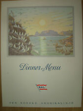 VINTAGE CRUISE DINNER MENU JULY 28th 1968 M.S.OSLOFJORD NORWEGIAN-AMERICAN LINE