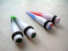 Peace Pot Leaf Taper Kit Set 00g  Ear Plug Expander  2 Pr  Red Blue White r