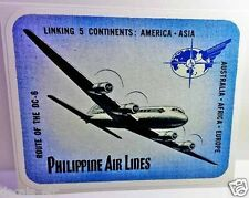 Philippine Air Lines Vintage Style Travel Decal / Vinyl Sticker, Luggage Label