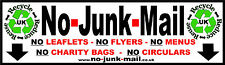 Stop Unwanted Junk Mail On The Doormat With A No Junk Mail Sign / Vinyl Sticker