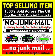 No Junk Mail Sign, No Advertising Material, No Free Literature, No Charity Bags