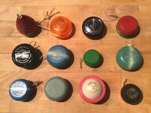 12 Vintage Yo Yo Toys Duncan Tournament Yomega Fireball Festival Zapper