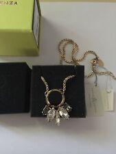 swarovski elements deco city necklace jet/gold handmade heunis spain new w box