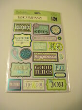 Scrapbooking Crafts K&CO Stickers Phrases Family Pics For Keeps Good Times Sweet
