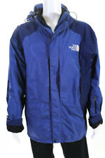The North Face® Men's Zip Up Collared Jacket Blue Black Size Extra Large
