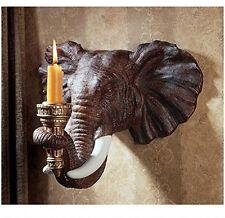 Design Toscano Elefante Candelabro da Parete-Set di 2
