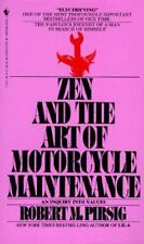 Zen and the Art of Motorcycle Maintenance Robert M Pirsig paperback book
