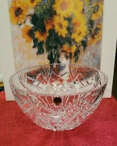 Waterford Crystal Signed Large Bowl Westbrooke NEW