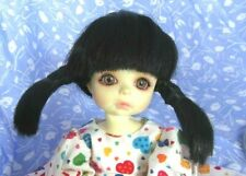 KAIS CHARLIE BlackFull Cap Doll Wig Size 10-11 Spiky Short Ponytails