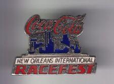 RARE PINS PIN'S .. COCA COLA COKE AMERIQUE USA COURSE RACEFEST NEW ORLEANS ~18