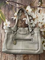 Coach F14686 Penelope Bag Pebbled Leather Silver Satchel