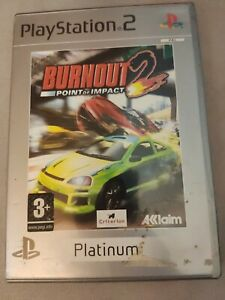 Burnout 2 Point Of Impact Platinum - Jeu Sony PlayStation 2 PS2 - complet