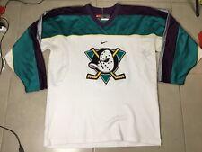 VTG 1990's NIKE Anaheim Mighty Ducks Sz L Hockey Jersey White NHL vintage large