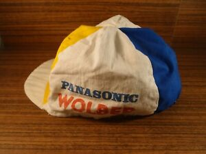 vintage 1980's hat Wolber Panasonic Colnago for adult cycling cap