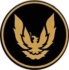 "1982-92 Pontiac Firebird GTA Wheel Cap Emblem w/ 2-1/8"" Diameter - Gold/Black"