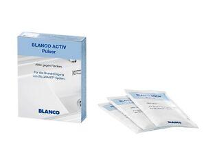 (75,87€/kg) Blanco Activ Pulver Grundreiniger Silgranit 3Tüten a 25g Granitspüle
