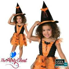 BABY TODDLER ORANGE WITCH COSTUME Girls Halloween Witch Fancy Dress Outfit 85413