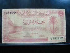 New listing Libya 5 Piastres 1951 United Kingdom 92# Currency Bank Money Banknote