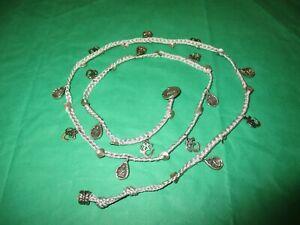 Love Heals Necklace, Hindu/Tibetan Om Aum Symbol and Buddha, Silvertone Crane