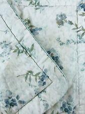 2 Croscill Standard Pillow Shams 21 X 27 Light Green Sheer Floral Purple Flowers