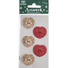 Christmas Hearts - Artoz Artwork Self Adhesive 3D embellishments 185500-147