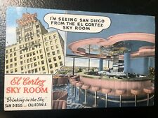 1941 EL CORTEZ HOTEL SAN DIEGO CALIF. POSTCARD