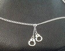 Silver Handcuff Necklace on 925 Silver Chain