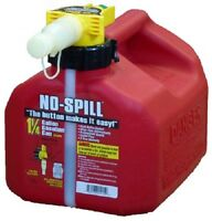 No Spill 1415  1-1/4 Gallon CARB Compliant User Friendly Gas Gasoline Fuel Can