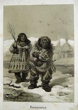 Henry Ritter Kamtschatka Inuit Eskimo Russland Kälte Fell Hütte Jagd Sibirien