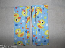 Handmade Blue & Yellow Duckies,  Shoulder/Seat Belt Covers Rear/Fwd Facing