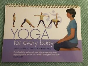 Yoga For Every Body by Paul Harvey, spiral bound designed to stand up