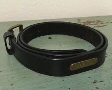 Vintage Polo Ralph Lauren Men's Size 40-41 Leather Belt  Brass Buckle Black