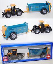 Siku 7553 JCB Fastrac 2125 4WS Traktor mit Roland Universalstreuer, 1:32