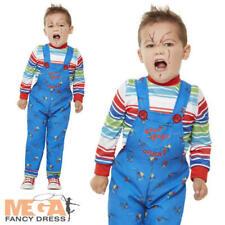 Chucky Toddlers Fancy Dress Halloween Horror Doll Toy Boys Girls Kids Costume