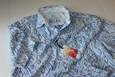 Tommy Bahama Camp Shirt Ikats A Lot Cobalt Glass Blue TR313819 New Medium M