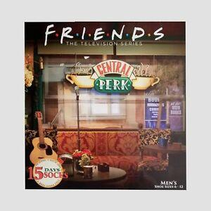 Friends TV Show 15 Days of Socks Holiday Gift box Advent Calendar New Mens