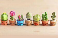 Dollhouse 7 Miniature Cactus Succulent Plants Lot 1:12 Scale 3cm US Seller