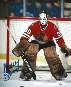 Murray Bannerman signed Chicago Blackhawks 8x10 photo autographed Hawks 3 JSA