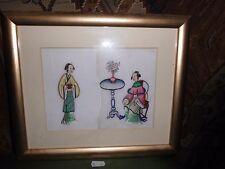 3. Japanische Reispapier Malerei um 1900 Asiatika Japan