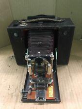 Eastman Kodak No.4 Cartridge Kodak Camera Maroon Bellows & Mahogany Wood