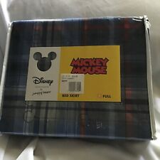 Disney Jumping Beans Plaid Full Bedskirt Twin Bed Pixar Blue Kids New 54 X 75