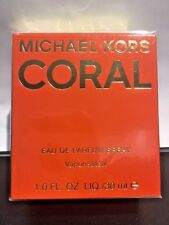 Michael Kors CORAL Women Perfume EDP Spray 1.0 oz / 30 ml NIB Sealed Pack